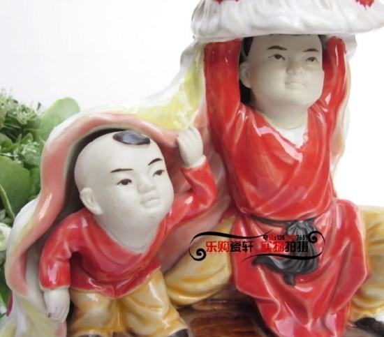 【協貿國際】工藝裝飾品舞獅小孩特色禮品