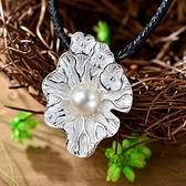 項鍊 925純銀珍珠吊墜-簡約氣質情人節生日禮物女飾品73hi52【時尚巴黎】