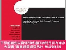 二手書博民逛書店預訂Ethnic罕見Prejudice And Discrimination In EuropeY492923