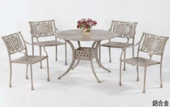 【南洋風休閒傢俱】戶外休閒桌椅系列-如意編織鋁合金桌椅組 戶外休閒餐桌椅組  (#343 #20303)
