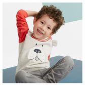男童 純棉長袖T恤-調皮狗
