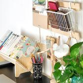 置物架 書架學生桌上小型書立可拼接夾書架立書架桌面置物架igo 卡菲婭