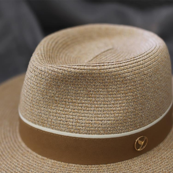 紳士帽 櫪野夏天男士大碼草帽手工編織寬檐夏季禮帽遮陽防曬大頭圍太陽帽 薇薇
