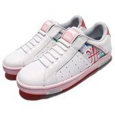Royal Elastics 休閒鞋 Icon 白 粉紅 無鞋帶設計 花花 花卉圖騰設計 女鞋【PUMP306】 92073012