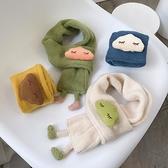 寶寶圍巾秋冬季男女童保暖6-12月圍脖兒童圍巾嬰兒韓版潮卡通圍巾 嬡孕哺