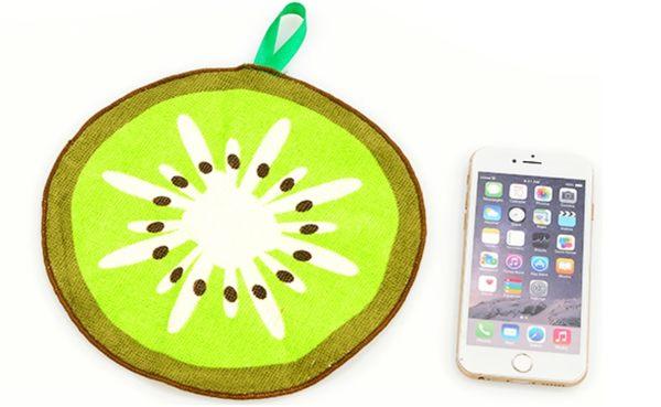 圓形水果擦手巾
