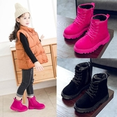 女童短靴冬季新款公主馬丁鞋子加絨棉鞋小女孩靴子兒童雪地靴 依夏嚴選