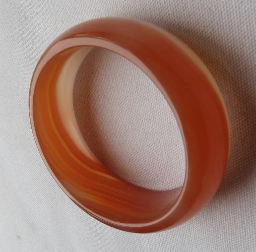 天然紅色瑪瑙手鐲 #0167  62mm