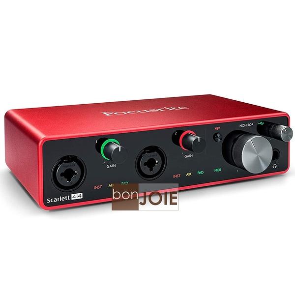 ::bonJOIE:: 第三代 Focusrite Scarlett 4i4 (3rd Gen) USB 錄音介面 (2i4 升級版) Audio Interface 錄音盒 錄音卡