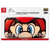 【玩樂小熊】Switch主機NS 原廠QUICK POUCH 新版臉部 收納布包 高彈性保護包 超級瑪利歐 瑪利歐款
