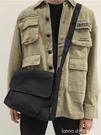 簡約帆布斜背包男女日系百搭挎包大學生上課書包工裝斜跨單肩包女 Lanna