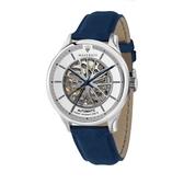 MASERATI 瑪莎拉蒂 紳士品味藍鏤空機械腕錶43mm(R8821136001)
