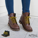 中筒靴 包邊綁帶8孔中筒靴 MA女鞋 T1096