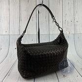BRAND楓月 Bottega Veneta BV 深咖啡色 經典 編織 羊皮 小提包 肩背包 手提包