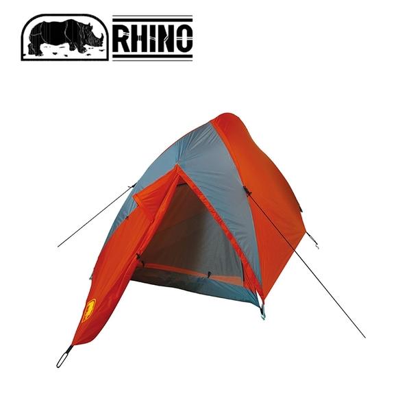 【RHINO 犀牛 U-900 多角度超輕2人高山帳《橘/灰》】U-900/露營/登山/帳篷