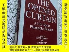 二手書博民逛書店the罕見opened curtain a u.s.-sovie