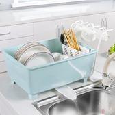 廚房放碗柜塑料帶蓋瀝水碗架 裝碗筷收納放餐具 【WJ9010】