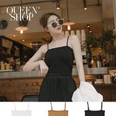 Queen Shop【01041582】可拆式細肩帶背心 三色售*現+預*