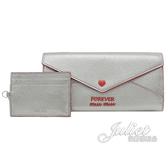 茱麗葉精品【全新現貨】MIU MIU 5MH379 Forever 信封型附證件卡扣式長夾.銀