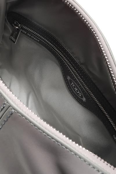 【TOD'S】 Miky 豆豆車縫皮革兩用托特/肩背包 灰色