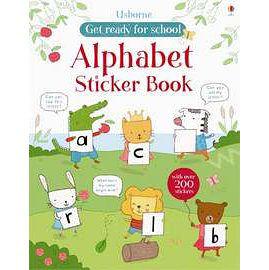 【麥克書店】ALPHABET STICKER BOOK (字母練習貼紙書)