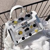 雙11果凍包秋冬透明小包包女包2020新款潮時尚小包側背斜背果凍包凱莉手提包