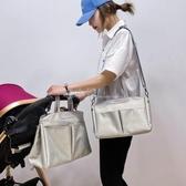 媽咪包單肩媽媽包母嬰外出大容量手提包時尚輕便多功能小號斜挎包 喵小姐