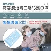 【南紡購物中心】HANLIN-MSK 高密度熔噴三層防護口罩(此商品非醫療級口罩)