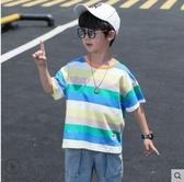 男童短袖T恤 童裝男童t恤夏季2020年新款兒童帥氣短袖純棉薄款上衣