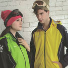MILD STAR 男女運動休閒防水透氣刷毛裡外套-黃藍#JW605315