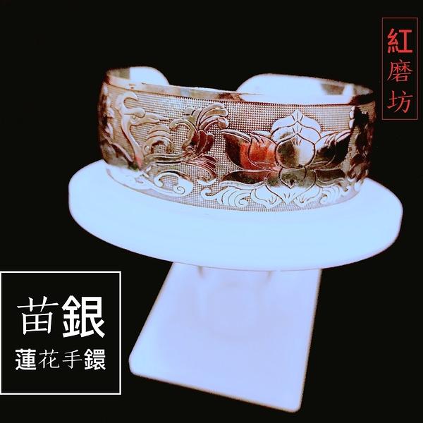 【Ruby工作坊】 NO.68一件苗銀蓮花雙鶴手環