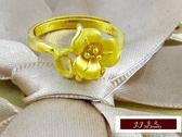 9999純金 黃金金飾 黃金戒指 幸福花卉  戒指