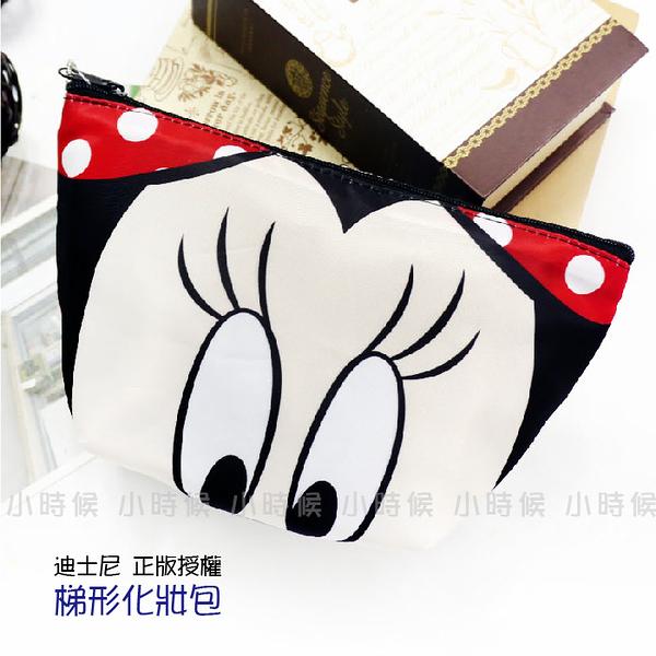 ☆小時候創意屋☆ 迪士尼 正版授權 米妮 輕巧 大臉頭 水餃包 化妝包 筆袋 手機包 零錢包 收納包