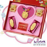 999.9黃金彌月音樂禮盒 可愛貓咪三件組2分-GP00021-21-FEX