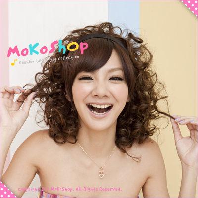 MoKoShOp*髮箍型俏妞QQ捲髮假髮【LY21313】