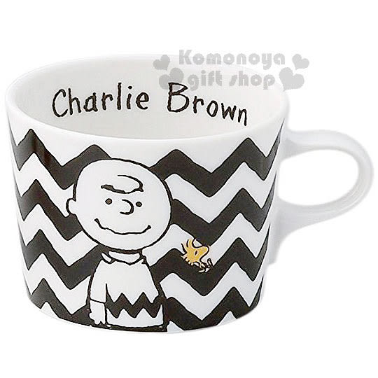 〔小禮堂〕史努比 日製陶瓷馬克杯《黑白.查理布朗.糊塗塔克.320ml》日本YAMAKA精緻陶瓷 4979855-20248