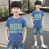 男童T恤中大童短袖t恤男童夏季新款童裝夏裝半袖打底衫男孩T恤衫 至簡元素