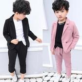 男童禮服兒童西裝套裝男童帥氣英倫風2019新款秋裝小寶寶花童西服兒童禮服 Pa9576『紅袖伊人』