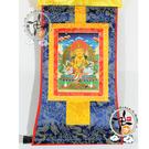 黃財神 迷你唐卡 【十方佛教文物】