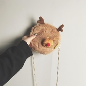 斜背包 側背包 秋冬可愛毛毛包包女韓版時尚休閒單肩包仙女鍊條斜挎包 小天後