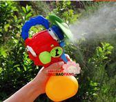 夏日戲水玩具兒童水槍噴霧器水霧降溫迷你風扇噴壺寶寶玩具1-3歲 英雄聯盟