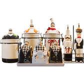 黑五好物節歐式陶瓷調味罐套裝創意家用廚房調料罐密封罐調料盒鹽罐調味盒套   夢曼森居家