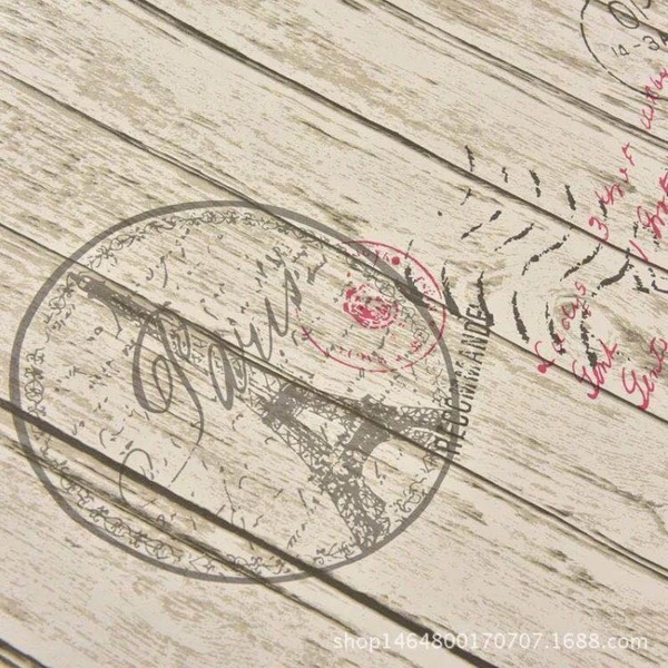 牆紙主題個性復古懷舊報紙牆紙學生宿舍男孩牆紙理發店餐廳奶茶店壁紙 喵小姐