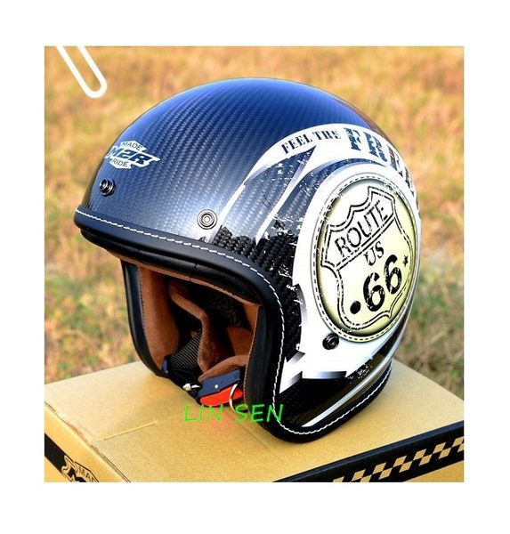 M2R安全帽,碳纖維復古帽,XF-1/彩