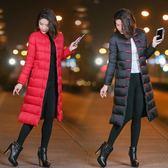 棉襖女棉服女加厚冬季外套女羽絨棉衣服女中長款過膝 糖果時尚