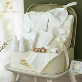 ShiningMoment新生嬰兒禮盒初生寶寶衣服套裝棉滿月見面禮大禮包 幸福第一站