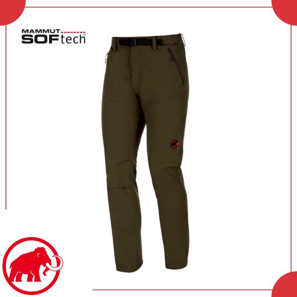 【MAMMUT 長毛象 男 Ac Sft Trekkers 長褲《橄欖綠》】1020-09760/軟殼褲/釣魚褲/休閒/工作