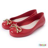 PIMPOLHO 金屬小蝴蝶結娃娃鞋-童-紅色