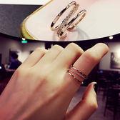 食指戒指女日韓學生指環潮人尾戒開口關節戒小指個性大氣韓國戒子 草莓妞妞