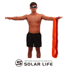 瑜珈伸展健身訓練環狀彈力帶橘色